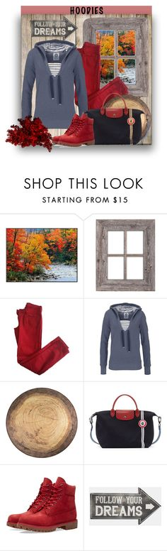 """""""If I had a hoodie..."""" by pomy22 ❤ liked on Polyvore featuring Comptoir Des Cotonniers, Longchamp, Timberland, Sass & Belle and Hoodies"""