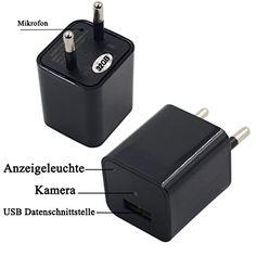 Xingan Hidden Wifi Nanny Camera Covert USB Adapter Wall Charger Spy Camera Home Surveillance and Security Camera Built-in Usb, Hidden Camera, Spy Camera, Home Surveillance, Security Camera, Wifi, Charger, German, Amazon