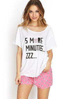 Five More Minutes PJ Set | FOREVER21 - 2000087590