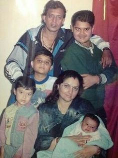 Mithun with wife Yogeeta,three sons & adopted  daughter