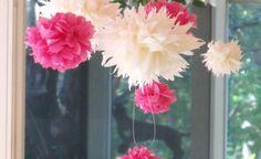 Tissue Paper Flower Tutorial from Mod Vintage Life Flower Crafts, Diy Flowers, Faux Flowers, Flower Art, Diy Paper, Paper Crafts, Paper Bows, Diy And Crafts, Crafts For Kids