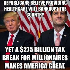 Republican politicians serve only themselves. GOP voters are going to suffer from self inflicted wounds.