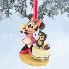 MINNIE MOUSE AND FIGARO CAT DISNEY STORE 2014 SKETCH BOOK ORNAMENT FREE SHIP NEW #DisneySTORE