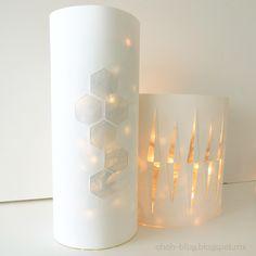 Ohoh Blog: Lantern with Christmas lights