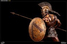 Sideshow Collectibles is proud to present the Faux Bronze Leonidas statue from ARH Studios. Presented with a striking faux bronze finish, the famed Spartan hero Leonidas Sparta, Greek Warrior, Sideshow Collectibles, Studios, Statue, Christmas Ornaments, Holiday Decor, Christmas Jewelry, Christmas Decorations