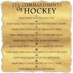 Ten Commandments of Hockey