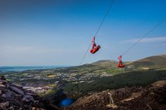 Penrhyn Slate Quarry, located near Bethesda in North Wales, is now home to Zip World Velocity, the fastest zip line in the world Travel Must Haves, Snowdonia, Adventure Activities, North Wales, Travel Goals, Lonely Planet, Places To Travel, Traveling By Yourself, Wood