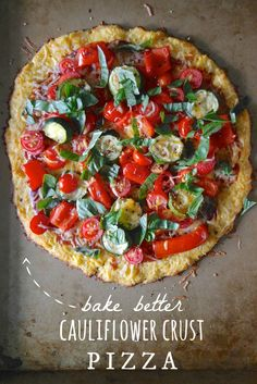 Better Cauliflower Crust // neverhomemaker