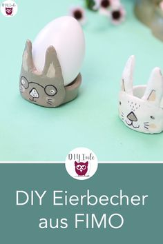 Make DIY egg cups out of FIMO / modeling clay - From FIMO or other modeling clay you can design sweet egg cups in the shape of a rabbit for Easter. Wall Art Crafts, Decor Crafts, Paper Crafts, Home Decor, Easy Diy Crafts, Easy Diy Projects, Dollar Store Crafts, Dollar Stores, Fimo Modelling