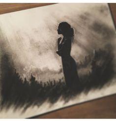 Prison Drawings, Dark Drawings, Pencil Art Drawings, Cool Drawings, Art Sketches, Charcoal Drawings, Charcoal Sketch, Charcoal Art, Landscape Sketch