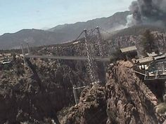 A wildfire is burning near the Royal Gorge. Here is a picture from the Royal Gorge Bridge.