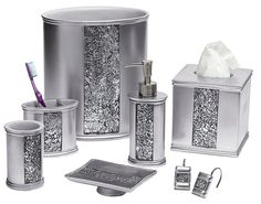 Check Out The Deal On Sinatra Silver Bling Bath Accessories At  BedBathHome.Com