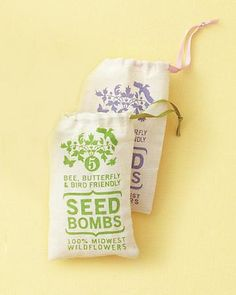 Flower Power  Wildflowers dot the Kansas prairie, but they can grow in most backyards, too. A muslin bag of Midwest seed bombs contains an arsenal of native plants that are ready to be sown