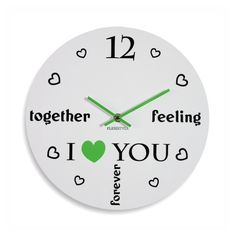 Okruhle detske hodiny so srdieckami Clock, Feelings, Watch, Clocks