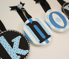 Do this with embroidery hoops and fabric, fun with a bright prints!