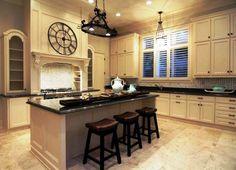 Granite Top Kitchen Island Breakfast Bar