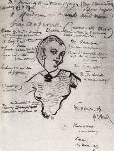 Jeanne Duval par Baudelaire, 1858-1860, muse et maîtresse du poète.