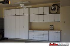 Garage Cabinets by Redline Garagegear are engineered for the garage environment. Free design and expert advice for your custom garage solution. Cool Garages, Custom Garages, Diy Garage, Garage Doors, Garage Solutions, Garage Storage Cabinets, Redline, Garage Organization, Floor Design