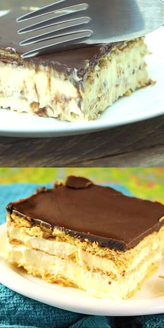 Chocolate Eclair Dessert No-Bake Chocolate Eclair Dessert ~ A classic! Creamy, delicious, and comforting. And it's ALWAYS a big hit! No-Bake Chocolate Eclair Dessert ~ A classic! Creamy, delicious, and comforting. And it's ALWAYS a big hit! No Bake Desserts, Easy Desserts, Delicious Desserts, Baking Desserts, Budget Desserts, Mexican Desserts, Cake Baking, Summer Desserts, Easy Snacks