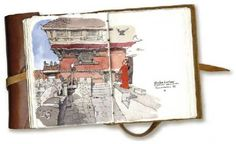 ZEP : Des aquarelles et croquis réalisés lors de ses nombreux voyages – de Saint Malo au Japon en passant par le Népal ou Florence –, et réunis dans ce Carnet Intime, simplement agrémentés de quelques mots.    http://www.anglesdevue.com/rubriqueabrac/wp-content/uploads/2011/12/carnets-0.jpg