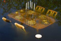 "malformalady: "" Submerged table and chairs at the the Kumpula botanic garden, Helsinki, Finland. Goblin, Looks Dark, Southern Gothic, Weird Dreams, Fantasy, Helsinki, Botanical Gardens, Alice In Wonderland, Art Inspo"