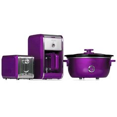 I NEED A TOASTER, SLOW COOKER, Purple appliances by Bella