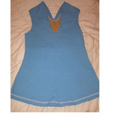 New Lululemon women's top size 6 New without tag Lululemon women's sports workout top. Size 6. Color is blue and white checkers as shown. Has nude inner lining chest support. Does not have the inner tags but has the Lululemon logo on the top back as shown on 3rd photo. lululemon athletica Tops