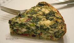 Gourmet Girl Cooks: Crustless Spinach-Feta Pie w/ Bacon -- Low Carb  Wheat-free