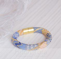 Beaded crochet bracelet pattern Seed beads от HitoriToraWorkshop