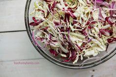 Tangy Vinegar Coleslaw Recipe via FoodforMyFamily.com