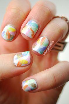 Pastel Brush Stroke Easter Nails!