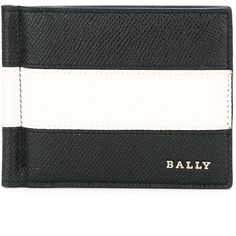 Bally striped portfolio wallet ($224) ❤ liked on Polyvore featuring men's fashion, men's bags, men's wallets, black and bally mens wallet