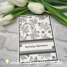Stempellicht: Trauerkarten mit SAB Set Gartengrüße von Stampin´Up!