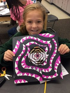 Beautiful Op Art! Well-done Jamestown Elementary