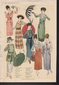 Days Gone By - July, 1918 fashion from The Delineator.