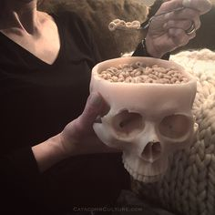 """""""Human Skull Bowl"""" what would you eat out of a human skull bowl? Chili for me  from CatacombCulture.com"""