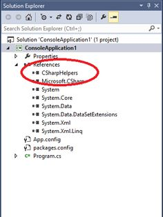 CSharpHelpers.dll Is Added As An Assembly Reference after installation of NuGet Package