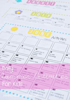 "Sick of hearing ""I'm bored,"" All summer long? Check out all the ideas in this Summer Activities Calendar Free Printable at www.thebensonstreet.com #summer #printable"