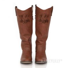 Monogrammed Western Style Riding Boot