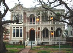 Galveston, Texas is filled with Victorian homes that withstood the great 1900 hurricane