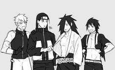 I can see how this plays out. Tobirama is Sakura, Hashirama is Naruto, Madara is Sasuke and Izuna is Sai. It works out pretty darn well. Hahahaha