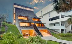 Architect William Morgan designed this distinctive, triangular house in Atlantic Beach, Florida, which is now selling for $1.75 million.