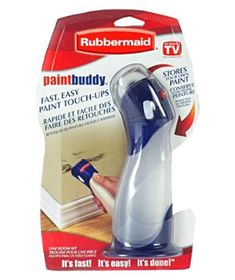 Rubbermaid Paint Buddy: store your leftover paint in these guys to be used when you can't remove those scuffs nor hide the nicks
