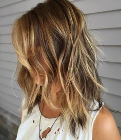 Medium Brown Blonde Shag
