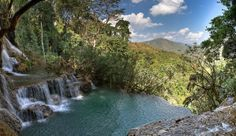 5 Most Amazing Infinity Pools in Pictures. Natural Pool in Tat Kuang Si Waterfall, Luang Prabang, Laos Infinity Pools, Infinity Edge Pool, Chiang Rai, Luang Prabang, Ubud, Beautiful Pools, Beautiful Places, Amazing Places, Seychelles
