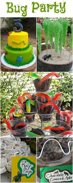 Boys will be boys...BUGS Birthday party ideas. Love this!