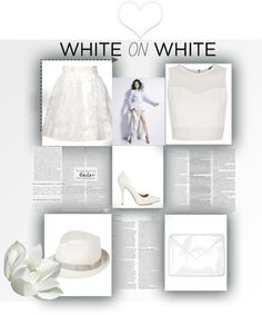 """""""White on white"""" by halogirl-797 on Polyvore"""