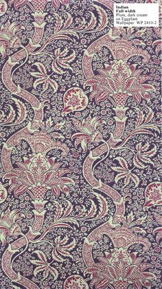 indian william morris wallpaper