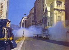 1970's Tear gas in Adderley Street, Cape Town. Photo in the Cape-Times 3 Sept 1976.
