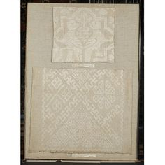 Towel- embroidered linen 1300-1499.